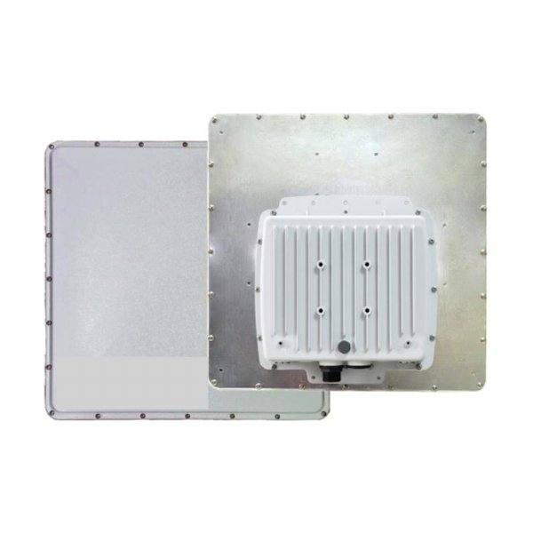 20-hop outdoor Base/End radio with 26-dBi antenna